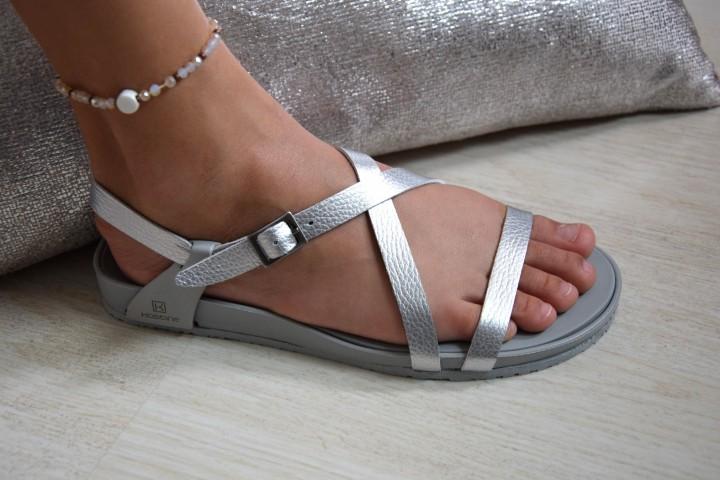 La sandale de Lilou argent