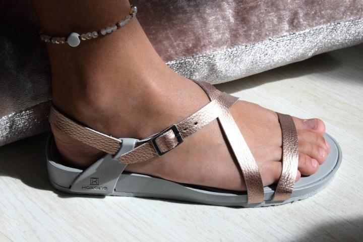 La sandale de Lilou rose gold